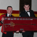 Subaltern Sword being presented to 2Lt Townsend-Carter by LCol Parkinson