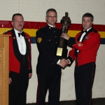 Einarson Trophy being presented to Sgt Gillis by CWO Yuile, LCol Parkinson