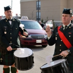Drummer Chris Cobeil and Drummer Sgt (LCol(retd)) David Vrooman