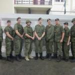 Seniors range night. L to R OCdt Turgeon, Sgt McNeil-Peddle, Sgt Kirkeby, Sgt Prochilio, Sgt Scriver, Sgt Bewell-Lowes, Sgt Orr ,MCpl Jackson OCdt Scriver