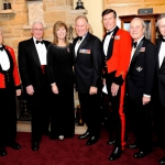 Honorary Lieutenant-Colonel Dr. John Scott Cowan/ Lieutenant-Colonel (Ret) Dave Morkem/ Ms. Jackie St. Pierre, Marketing Manager City of Kingston / General Walter Natynczyk/ Honorary Colonel M. Hutchings/ Lieutenant-Colonel (Ret) Art Jordan/ Mr. Rob Baxter – 150 Oversight Committee with General Natynczyk