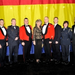 Police Officers and The Right Honourable Beverley McLachlin, P.C., Chief Justice of Canada. From left to right: Sergeant (Ret) Jason Pierog / Master Warrant Officer Dean M. Yuile, RSM/ 2Lt (Ret) Paul McNeil/ Captain Marc Gallant / The Chief Justice/ Warrant Officer S. Shultz/ Master Corporal (Ret) John Seguin/ Sergeant (Ret) Marcie Martin/ Sergeant (Ret) Rick Wilde, former President of the PWOR Association