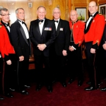COs (past and present) Lieutenant-Colonel (Ret) Andrew J. Samis/ Colonel Howard G. Coombs, Commander, 33 Canadian Brigade Group/ Lieutenant-Colonel (Ret) Ed H. Bradley/ Lieutenant-Colonel (Ret) David Morkem/ Lieutenant-Colonel (Ret) Tom G. Lodge/ Lieutenant-Colonel James R. McKay/ Lieutenant-Colonel (Ret) William Leavey with former CDS General Walter Natynczyk