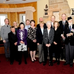 LCol James McKay, Commanding Officer; Ian Manhire; Daniel Hayward; Sheila Manhire; Kirsty Hayward; Patrick Manhire; Janice Coghill; Robert Manhire; Sheila Anne Manhire; Irene Coghill; Major Laird Coghill; Allison Jamieson; Jack Coghill Jr.; Pipe Major CWO (retd) Jack Coghill; John Jamieson; HCol Mark Hutchings